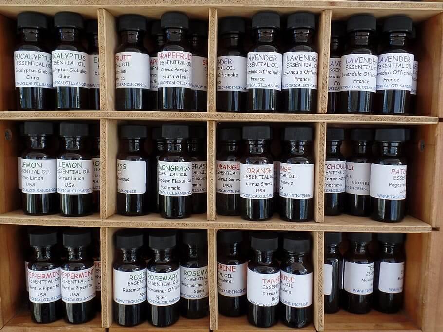 aceites esenciales para hacer jabón
